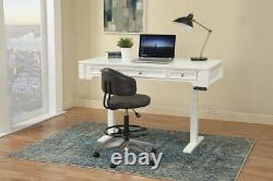 Boca 57 Hauteur Réglable Sit Stand Power Lift Writing Desk Cottage Blanc