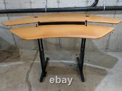 Bureau D'angle Réglable De Hauteur Biomorphe Ou Bureau D'angle De Stand-up