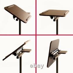 Bureau D'ordinateur Mobile Sit Stand Tilt Rolling Réglable Laptop Cart Sidetable