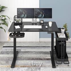 Bureau De Stand Réglable À Hauteur Électrique 48 X 24 Avec Support De Moniteur Optionnel