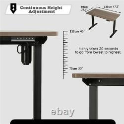 Bureau Debout Hauteur Électrique Réglable Sit Stand Table Ordinateur Pc Poste De Travail