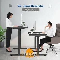 Bureau Électrique Cadre Réglable En Hauteur Sit Stand Bureau Avec Contrôleur De Charge Usb