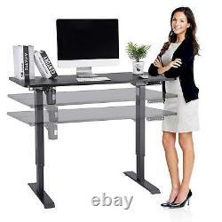 Bureau Électrique, Position Assise Réglable En Hauteur, Poste De Travail D'ordinateur De Table