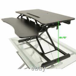 Bureau En Hauteur Réglable Standing Sit / Stand Table Workstation Black Computer