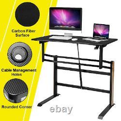 Bureau Permanent Pneumatique Réglable En Hauteur Assied To Stand Bureau D'ordinateur Worktaion