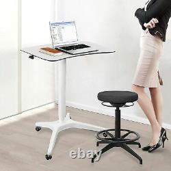 Bureau Pneumatique Bureau Réglable Bureau D'ordinateur Portable De Hauteur, Sit Stand Mobile, Conception Ergonomique