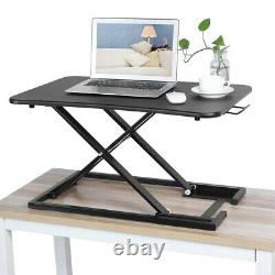 Bureau Réglable Riser Home Étagère Standup Sit Stand Hauteur Stand Laptop Noir
