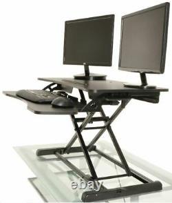 Bureau Tabletop Standing Desk Réglable Height Sit Stand Poste De Travail Ergonomique