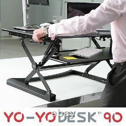 Bureau Yo-yo 90-height Réglable Standing Desk (noir). Bureau Supérieur De Sit-stand