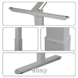 Cadre De Bureau Électrique Réglable En Hauteur Assis Motorisé Pieds De Bureau Silver-grey