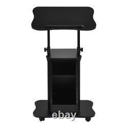 Cart De Bureau D'ordinateur Portable Assis Sur Place Accueil Rolling Mobile Avec La Hauteur Réglable De Stockage