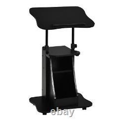 Costway Sit-to-stand Ordinateur Portable Cart Rolling Mobile Hauteur Réglable Avec Stockage