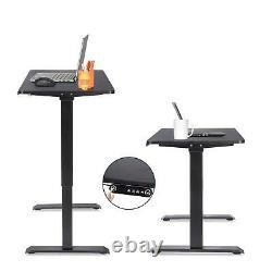 Electric Standing Bureau Hauteur Réglable Sit Stand Table Ordinateur Pc Workstation
