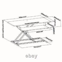 Ergonomique Sit Stand Desk Hauteur Réglable Riser Tabletop Workstation 37 Wide