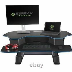 Eureka Ergonomie Hauteur Réglable 46 Black Sit-stand Desk Convertisseur & Riser