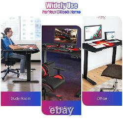Gymax Electric Standing Gaming Desk Assied To Stand Height Ajustable Splice Board