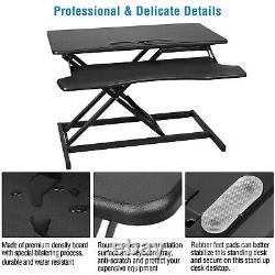 Hauteur Réglable 2 Moniteurs Riser Standing Desk Tabletop Sit Stand Workstation
