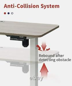 Hauteur Réglable Debout Bureau Électrique Sit Stand Up Computer Home Office 47x24