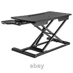 Hauteur Réglable Standing Desk Monitor Riser Tabletop Sit To Stand Workstation