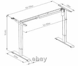 Imount Electric Standing Desk/height Adjustable Sit Stand Cadre De Poste De Travail Seulement