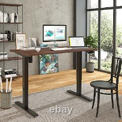 Maidesite Electric Standing Desk Double Motor Height Adjust Sit Stand Desk Cadre