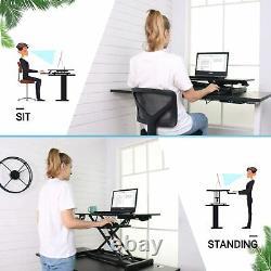 Milemont Standing Desk, Sit Stand Up Bureau Hauteur Réglable Tableau 32 Pouces Standi