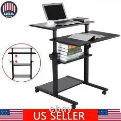 Mobile Hauteur Ajustable Ordinateur Sit Stand Workstation Pc Ordinateur Portable Bureau De Table