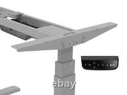Monoprice Ajustable Sit Stand Table Cadre De Bureau Gris Avec Moteur Électrique Dual