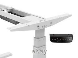 Monoprice Réglable Sit Stand Table Desk Frame Blanc Pour Les Ordinateurs De Bureau Jusqu'à 87in