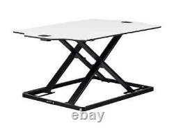 Monoprice Ultra Slim Réglable Sit Stand Riser Table Top Converter Blanc