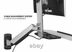Mont-it Sit Stand Wall Mount Workstation Réglable Hauteur Stand Up Comput