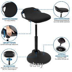 Montez-le! Ergonomic Sit Stand Tabouret 360° Tilt Hauteur Réglable, Chaise De Fuite