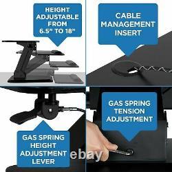 Mount-it! Sit Stand Desk Convertisseur Ergonomique Hauteur Réglable Bureau De Table