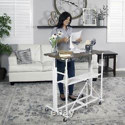 Origami Siège Ou Debout Ajustable Bureau De Bureau À La Maison De Travail À Domicile, Mince (utilisé)