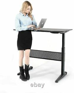 Pneudesk 47x27 Movable Sit/standing Desk, Hauteur Pneumatique Réglable 29-48