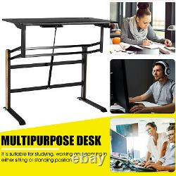 Pneumatic Height Adjustable Standing Desk Sit To Stand Computer Desk Workstaion