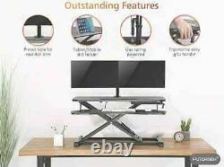 Putorsen Standing Desk Hauteur Réglable Sit Stand Desk Converter Stand Up Desk