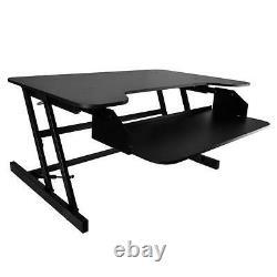 Pyle Pdris06 Réglable Sit & Stand Desk, Poste De Travail Universel Pour Ordinateurs Portables