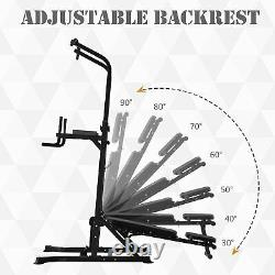 Réglable & Folded Dip Stands Multi-function Pull-ups Sit-ups, Fitness Tools Gym