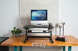 Rocelco 32 Hauteur Réglable Convertisseur De Bureau Permanent Sit Stand Ordinateur Wo
