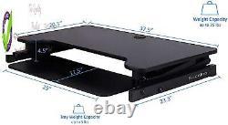 Rocelco 37.5 Deluxe Hauteur Réglable Bureau Convertisseur Quick Sit Stand