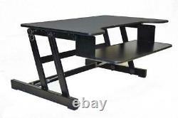 Rocelco Adr Hauteur Réglable Sit/stand Desk Computer Monitor Riser Black