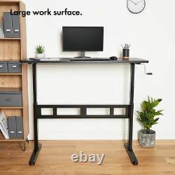 Sit Stand Bureau D'étude De Cadre De Bureau Accueil Surface De Travail Cran Hauteur Réglable
