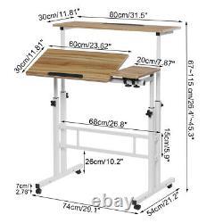 Sit Stand Bureau Ordinateur Bureau De Travail Réglable Table D'ordinateurs Portables Avec Roues V