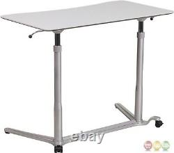 Sit-down Stand-up Réglable Bureau D'ordinateur Gris Conçu Pour Ordinateur De Bureau Et Ordinateur Portable