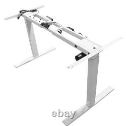 Sit-stand Simple Motor Height Réglable Table Desk Frame Electric New