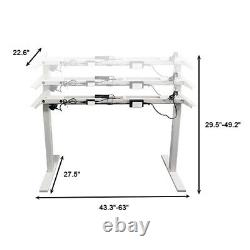 Sit-stand Single Motor Height Réglable Table Desk Frame Electric Ue