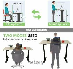 Smonter Electric Standing Desk Frame Ajustable Hauteur Assied To Stand Up 2-stage