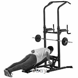 Soozier Adjustable&folded Dip Stands Multi-function Pull-ups Sit-ups, Fitness
