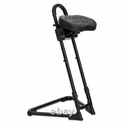 Tabouret Réglable Alera Sit/stand, Blk/blk, Base Blk Ss600